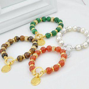 Henri Bendel Onyx Malachite Bracelet